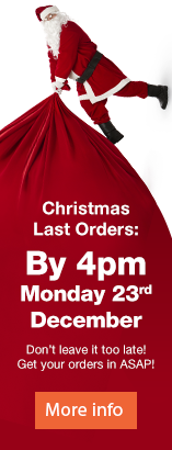 Christmas Last Orders by 4pm Monday 23rd December.