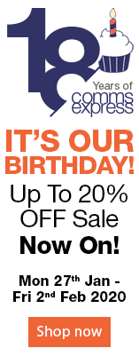 Its Our Birthday. Up To 20% OFF Sale. Now On. Mon 27th Jan - Fri 2nd Feb 2020.
