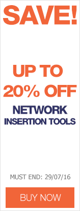 Save up to 20% on network installation tools