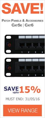 Up to 15% off CE Patch Panels