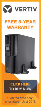 Purchase your Vertiv Liebert GXT4 UPS before 31sy December and receive a free five year warranty