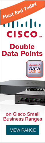 Double Data Points on Cisco Small Business Ranges