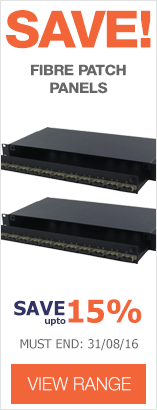 Save up to 15% on Fibre Optic Patch Panels