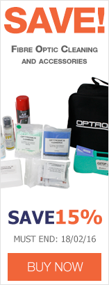 Save up to 15% on Fibre Optic Cleaning including kits, pens, inspection and consumables.