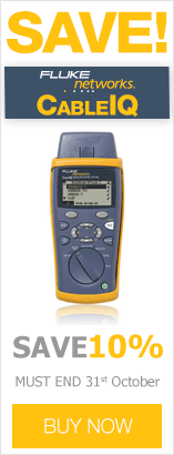 Save 10% until the end of October when purchasing Fluke Networks CableIQ Qualification Testers