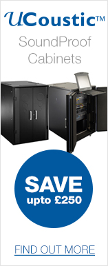 Save up to £250 on selected UCoustic SoundProof Active or Passive Cabinets