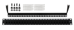 Value 24 Way RJ45 Cat5e Through Coupler Patch Panel - 1u