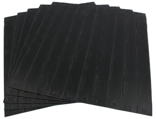 Pack 5 x 10U Strips AirShield Blanking Panels