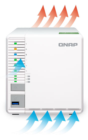QNAP TS-351-4G 3 Bay 4GB Diskless Desktop NAS | Comms Express