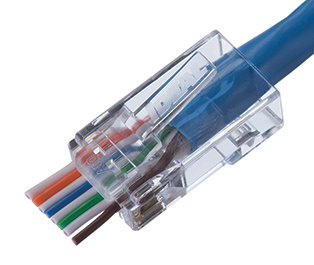 Ideal Networks Cat6 Feed-Thru RJ-45 Modular Plug