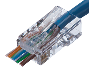Ideal Networks Cat5e Feed-Thru RJ-45 Modular Plug