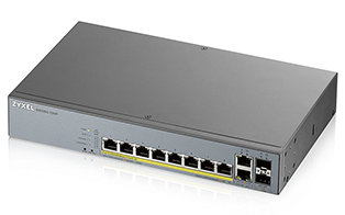 Zyxel GS1350-12HP 8-port GbE Smart Managed PoE Switch