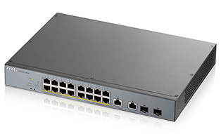 Zyxel GS1350-18HP 16-port GbE Smart Managed PoE Switch