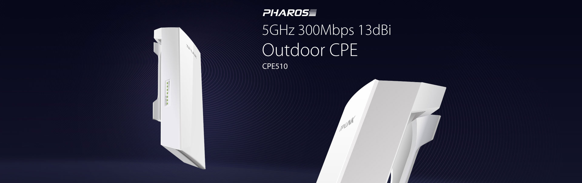 Pharos 5GHz 300Mbps 9dBi Outdoor CPE