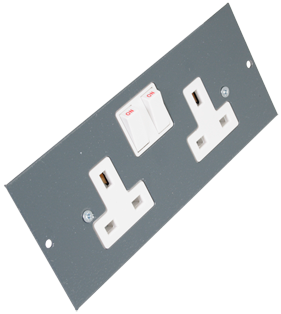 Twin Switched Socket for 3 Compartment Floor Box