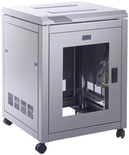Prism PI 12u 600mm Wide x 800mm Deep Data Cabinet, Flatpack