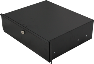 3U Lockable 19 Inch Rackmount Drawer