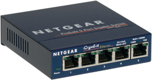 Netgear GS105 - 5 Port Unmanaged Gigabit Switch