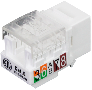 Cat6 Keystone Jack Outlet
