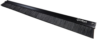 "Ezibrush 1 x 19"" 1U Brush Panel, inc. Fixings, Black"