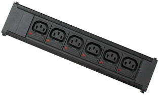 6 x individually fused IEC C13 10A sockets
