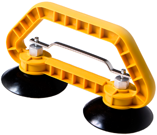 Yellow Hi-Viz Quick Release Twin Cup Floor Tile/Panel Lifter