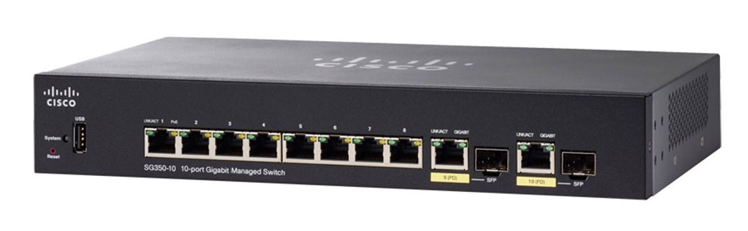 Cisco SG350-10-K9-UK 10-Port Managed Switch