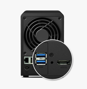 USB 3.0 and eSATA ensure speedy transfers to external storage