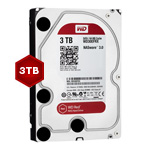 WD WD30EFRX Red 3TB 64MB 3.5 Inch SATA Hard Drive