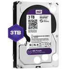 WD Purple 3 TB Internal HDD - 3.5 SATA 6Gb