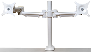 Height Adjustable Double Monitor Arm