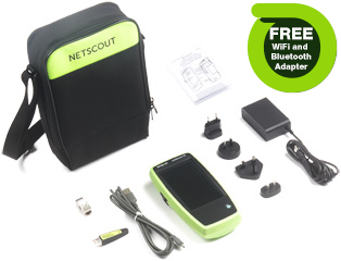 NetScout LinkRunner G2 Smart Network Tester w/ Free Bluetooth and WiFi Adapter