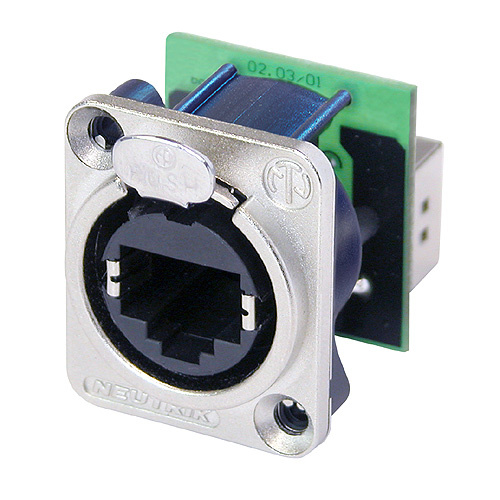 etherCON CAT5e Right angle RJ45 at rear also available with black housing
