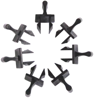 100 Pack AirShield Push/Pull Rack/Panel Clips