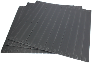 10x 12U Strip Plastic Toolless Blanking Panels, Self Fixing