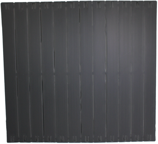 1x 12U Strip Plastic Toolless Blanking Panels, Self Fixing
