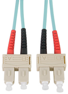 SC - SC Connector Multimode Duplex Fibre Patch Leads