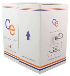 CE Cat6 PVC Solid Cable Grey 305mt