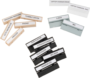 Fits 5mm-7mm Pack of 40 Cable Labels WITH FREE PEN Cablebug5 Labels PINK